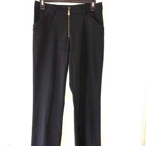 Versace Dress Pant Size 28/42 Gold zippers